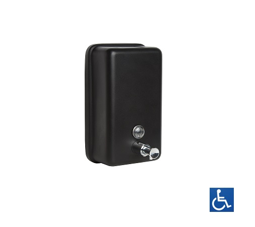 Designer Black Vertical Soap Dispenser