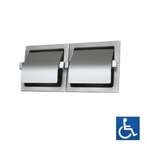 Hooded Double Toilet Roll Holder