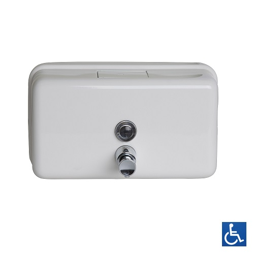 White Horizontal Soap Dispenser