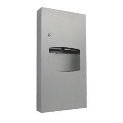 Antimicrobial Surface Mounted Paper Towel Dispenser and Waste Receptacle
