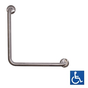 Antimicrobial Ambulant Universal 90° Grab Rail: 450x450mm